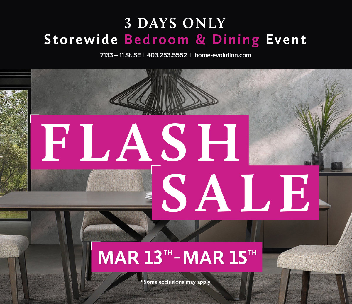 Bedroom & Dining Room Flash Sale